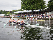 Henley Royal Regatta, Henley on Thames, Oxfordshire, 28 June - 2 July 2017.  Saturday  15:38:02   01/07/2017  [Mandatory Credit/Intersport Images]<br /> <br /> Rowing, Henley Reach, Henley Royal Regatta.<br /> <br /> The Women's Four<br />  Oxford Brookes University and Melbourne University, Australia v  New York Athletic Club, U.S.A.