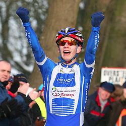 HUYBERGEN (NED) veldrijden<br />Lars van der Haar pakt de titel bij de junioren