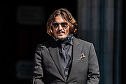 American actor and Hollywood Star Johnny Depp arrive at the Royal Courts of Justice in Central London, on Wednesday, July 22, 2020.  (VXP Photo/ Vudi Xhymshiti)