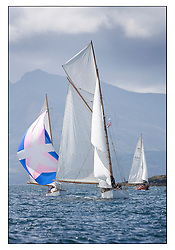Viola 1908 Gaff Cutter and Rosemary 1925 Bermudan Sloop..Mixed and bright conditions for the fleet as they race from Kames to Largs...* The Fife Yachts are one of the world's most prestigious group of Classic .yachts and this will be the third private regatta following the success of the 98, .and 03 events.  .A pilgrimage to their birthplace of these historic yachts, the 'Stradivarius' of .sail, from Scotland's pre-eminent yacht designer and builder, William Fife III, .on the Clyde 20th -27th June.   . ..More information is available on the website: www.fiferegatta.com . .Press office contact: 01475 689100         Lynda Melvin or Paul Jeffes