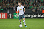 Michael Carrick Midfielder of Manchester United during the Europa League match between Saint-Etienne and Manchester United at Stade Geoffroy Guichard, Saint-Etienne, France on 22 February 2017. Photo by Phil Duncan.