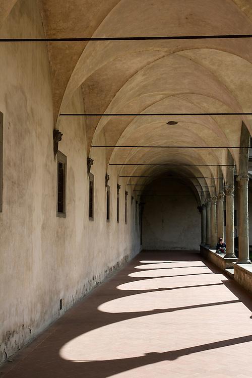 Within the basilica of Santa Croce.