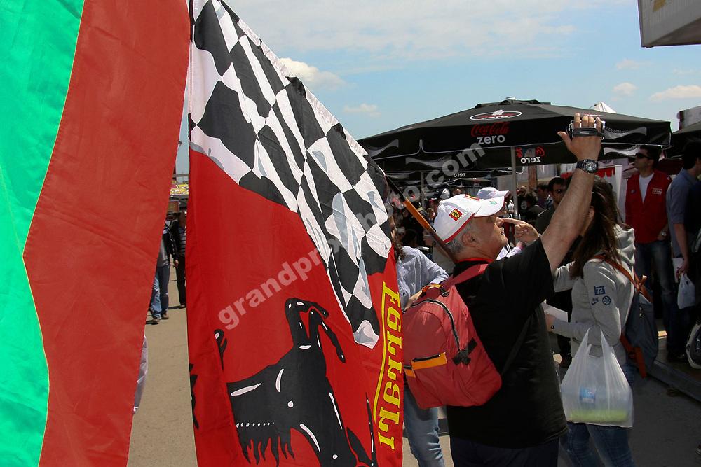 Ferrari fans before the 2011 Turkish Grand Prix in Istanbul Park. Photo: Grand Prix Photo