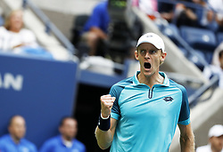 NEW YORK, Sept. 11, 2017  Kevin Anderson of South Africa jubilates during the Men's singles final match against Rafael Nadal of Spain at 2017 US Open in New York, the United States, Sept. 10, 2017. Rafael Nadal won 3-0 to claim the title. (Credit Image: © Qin Lang/Xinhua via ZUMA Wire)