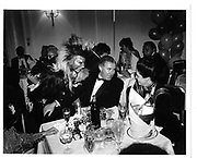 Martin Deguille and Andrew Neil(zig zag sputnic)Waldorf 1986© Copyright Photograph by Dafydd Jones 66 Stockwell Park Rd. London SW9 0DA Tel 020 7733 0108 www.dafjones.com