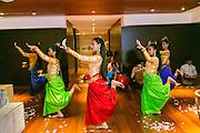 Cambodian Dancers, Aqua Expeditions Boat, Mekong River, Cambodia, Asia
