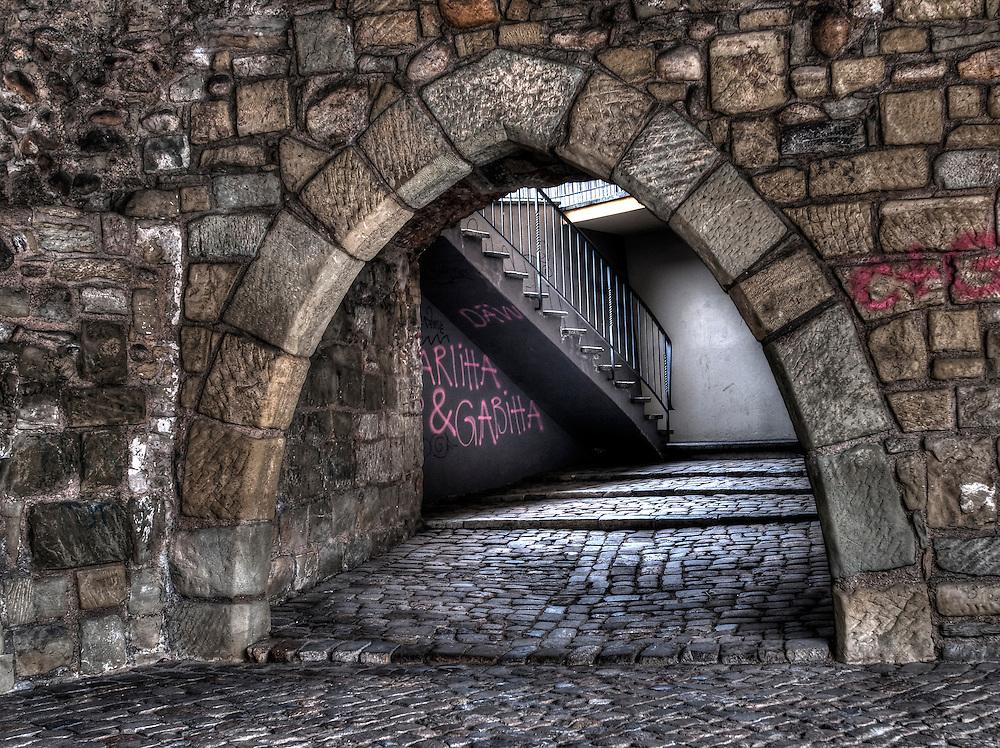Bern old city stone arch