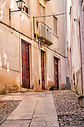 Coimbra, December 2012. Narrow street on traditional city area