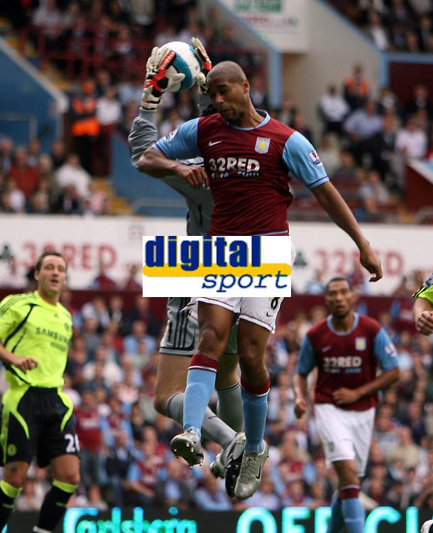 Photo: Rich Eaton.<br /> <br /> Aston Villa v Chelsea. The FA Barclays Premiership. 02/09/2007. Aston Villa's Luke Moore challenges for a cross