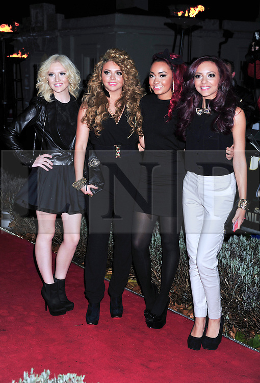 © Licensed to London News Pictures. 19/12/2011. London, England.Perrie Edwards, Jesy Nelson, Leigh-Anne Pinnock and Jade Thirlwall of Little Mix attends a Night Of Heros , the Sun Military Awards 2011 held on Monday 19th Dec at the Imperial War Museum London . the awards will be televised on Wed 21st December 2011 .  Photo credit : ALAN ROXBOROUGH/LNP