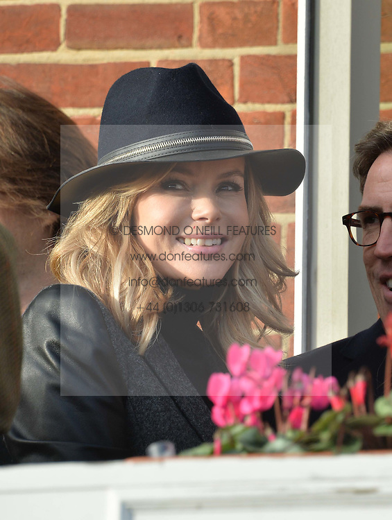 Left to right, AMANDA HOLDEN and LADY STEWART at the 2013 Hennessy Gold Cup at Newbury Racecourse, Berkshire on 30th November 2013.
