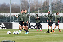 April 2, 2018 - Vinovo, Piedmont/Turin, Italy - Paulo Dybala during the training session before the Champions League match against Real Madrid, in Vinovo at Juventus Center, Italy 2nd April 2018  (Credit Image: © Alberto Gandolfo/Pacific Press via ZUMA Wire)
