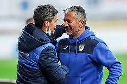 Jan Kosir and Dejan Djuranovic, head coach of Domzale during football match between NK Domzale and NK Olimpija in 32nd Round of Prva liga Telekom Slovenije 2020/21, on May 5, 2021 in Sports park Domzale, Slovenia. Photo by Vid Ponikvar / Sportida