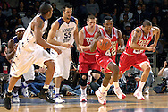 Texas Tech guard Charlie Burgess (42) heads up court against Kansas State during the first half at Bramlage Coliseum in Manhattan, Kansas, January 8, 2007.  Texas Tech defeated K-State 62-52.