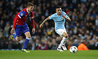 Football - 2017 / 2018 UEFA Champions League - Round of Sixteen, Second Leg: Manchester City (4) vs. FC Basel (0)<br /> <br /> Gabriel Jesus of Manchester City and Fabian Frei of FC Basel at The Etihad.<br /> <br /> COLORSPORT