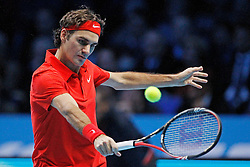 22.11.2010, Marriott Country Hall, London, ENG, ATP World Tour Finals, im Bild Federer, Roger (SUI). EXPA Pictures © 2010, PhotoCredit: EXPA/ InsideFoto/ Semedia +++++ ATTENTION - FOR AUSTRIA/AUT, SLOVENIA/SLO, SERBIA/SRB an CROATIA/CRO CLIENT ONLY +++++