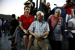 June 20, 2017 - Athens, Greece - People take part to a rally organized by the Paraitithite (Resign) movement, at Syntagma Square, central Athens calling for the governments resignation, on June 20, 2017  (Credit Image: © Panayotis Tzamaros/NurPhoto via ZUMA Press)