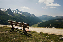 Bench in Pfitsch Valley at Zillertal Alps, Alto Adige, Italy
