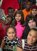 Students from Las Americas pose for a photograph, January 20, 2017.