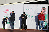 fans look on outside the Liberty Stadium. Premier league match, Swansea city v West Ham United at the Liberty Stadium in Swansea, South Wales on Boxing Day, Monday 26th December 2016.<br /> pic by  Andrew Orchard, Andrew Orchard sports photography.