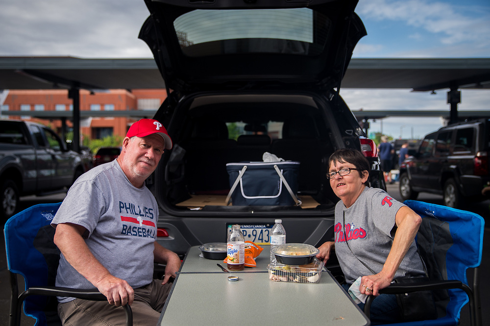 """Dave Prendergast, 63, and his wife Reba, 60, of Delaware County have had season tickets for around a decade, but attendance has fallen off. """"We walk into the park and they upgrade us,"""" Dave said."""