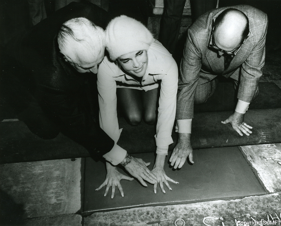 1972 Ali Macgraw's hand/footprint ceremony at Grauman's Chinese Theater