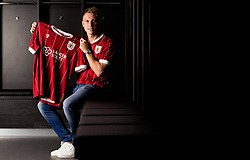 Cauley Woodrow poses at Ashton Gate Stadium after signing for Bristol City - Mandatory by-line: Joe Meredith/JMP - 17/08/2017 - FOOTBALL - Ashton Gate Stadium - Bristol, England - Bristol City New Signing