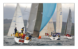 Yachting- The first days inshore racing  of the Bell Lawrie Scottish series 2003 at Tarbert.  Light shifty winds dominated the racing...Galileo, Class 3..Pics Marc Turner / PFM