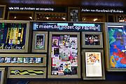 Nederland, Arnhem, 13-3-2014Het gebouw De Rozet in het centrum van de stad.Verschillende culturele en educatieve instellingen zijn hierin gevestigd zoals de Openbare Bibliotheek, Kunstbedrijf Arnhem, de Volksuniversiteit en To Art Kunstuitleen. Ontwerp van Neutelings Riedijk Architecten. In het interieur veel vitrines, en lichtbakken die de identiteit en geschiedenis van de stad laten zien. Foto: Flip Franssen/Hollandse Hoogte