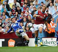 Aston Villa/Birmingham City Premiership 25.04.10<br /> Photo: Tim Parker Fotosports International<br /> John Carew Villa & Barry Ferguson Birmingham