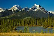 caneoing down the Kootenay River. NMR<br /> Kootenay National Park<br /> British Columbia<br /> Canada