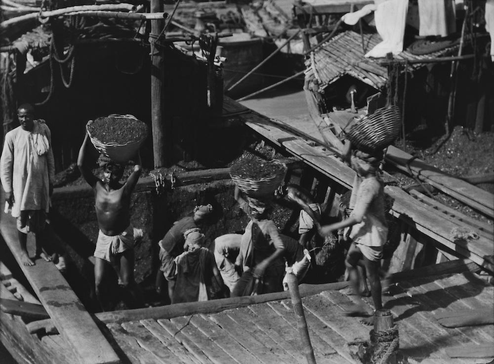 Unloading Coke, Birla Jute Mill, Calcutta, 1929
