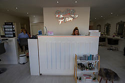 Pics of Pouts & Pinups, Kirkcaldy. Stacey Whittaker, a mum-of-two who has set up her own beauty salon at Pouts & Pinups, Kirkcaldy. For London Money Desk.