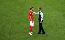 England's Harry Kane (left) and manager Gareth Southgate look dejected after the final whistle during the FIFA World Cup third place play-off match at Saint Petersburg Stadium. PRESS ASSOCIATION Photo. Picture date: Saturday July 14, 2018. See PA story WORLDCUP Belgium. Photo credit should read: Tim Goode/PA Wire. RESTRICTIONS: Editorial use only. No commercial use. No use with any unofficial 3rd party logos. No manipulation of images. No video emulation.