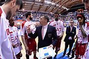 DESCRIZIONE : Brindisi  Lega A 2014-15 Enel Brindisi EA7 Milano<br /> GIOCATORE : Banchi Luca<br /> CATEGORIA : Allenatore Coach Time Out<br /> SQUADRA : EA7 Milano<br /> EVENTO :  Lega A 2014-15 <br /> GARA :Enel Brindisi EA7 Milano<br /> DATA : 03/05/2015<br /> SPORT : Pallacanestro<br /> AUTORE : Agenzia Ciamillo-Castoria/M.Longo<br /> Galleria : Lega Basket A 2014-2015<br /> Fotonotizia : Brindisi  Lega A 2014-15 Enel Brindisi EA7 Milano<br /> Predefinita :