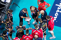 Alberto Giuliani, head coach of Macerata during volleyball match between ACH Volley and Lube Banca Marche Macerata (ITA) in 5th Leg of Pool D of 2013 CEV Champions League on December 5, 2012 in Arena Stozice, Ljubljana, Slovenia. ACH defeated Macerata 3-1. (Photo By Vid Ponikvar / Sportida)