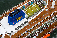 """Britain's largest and most environmentally-friendly cruise ship, P&O Cruises Iona, arrives into her home port of Southampton this morning ahead of tonight's official naming ceremony.<br /> <br /> Iona is powered by liquefied natural gas, ground-breaking for the UK cruise industry and one of the cleanest fuels in the world.<br /> <br /> The ship will be named this evening in a glittering quayside ceremony hosted by Jo Whiley and broadcast to a """"virtual"""" audience, the highlight of which will be a performance by Iona's music director Gary Barlow.<br /> <br /> Dame Irene Hays, chair of Hays Travel, Britain's largest independent travel agency, will name the ship and a specially produced Nebuchadnezzar (equivalent to 20x 750ml bottles) of Alex James's Britpop cider will smash against the hull of the ship to bring it good fortune in the future.  <br /> <br /> Iona will have 30 bars and restaurants with many new speciality dining options including tapas from award-winning Spanish chef José Pizarro paired with wines selected by Olly Smith. Entertainment venues include the first """"SkyDome"""" - an extraordinary glass structure which will be a relaxed poolside environment by day and then transform at night into a spectacular venue with DJs, stage and aerial acrobatic shows.<br /> <br /> There will also be the first gin still on a cruise ship, created in association with Salcombe Gin, distilling tailor made spirit on board. The gin's maiden production will take place in Iona's custom-made still named """"Columba"""" and will be distilled, bottled and labelled on board. <br /> <br />  <br /> Picture date Sunday 16th May, 2021.<br /> Picture by Christopher Ison. Contact +447544 044177 chris@christopherison.com<br /> <br /> For further press information please contact: <br /> Michele Andjel, michele.andjel@carnivalukgroup.com 023 8065 6653 / 07730 732 072<br /> Laura Tattam, laura.tattam@pocruises.com 02380 656651 / 07771 283 845<br /> Jenny Hadley, jenny.hadley@pocruises.com  023 8065 6650"""