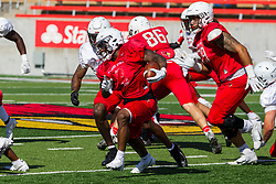 NORMAL, IL - August 14: Kevin Brown during a college football pre-season scrimmage of the  ISU (Illinois State University) Redbirds August 14 2021 at Hancock Stadium in Normal, IL. (Photo by Alan Look)