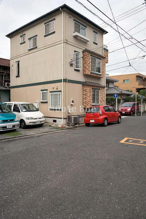 house in a residential neighborhood in Japan