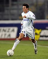 """Javier Zanetti (Inter)<br /> Quarter Final Italy Cup 2006-07 <br /> 09 Jan 2007 <br /> Empoli-Inter (0-2)<br /> """"Castellani"""" Stadium-Empoli-Italy<br /> Photographer Luca Pagliaricci INSIDE"""