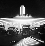 9617-02. Night view of Barts Drive-In, at 5006 SE Powell, corner of Foster. Listed here until 1948 phone book. In March 1949 the property became Ming's (same address) and then the Speck (same building but entrance and address on Foster)