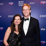 NLD/Amsterdam/20190322  - Boekenbal 2019, Robert Dijkgraaf en partner