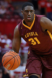 19 February 2017:  Maurice Kirby during a College MVC (Missouri Valley conference) mens basketball game between the Loyola Ramblers and Illinois State Redbirds in  Redbird Arena, Normal IL