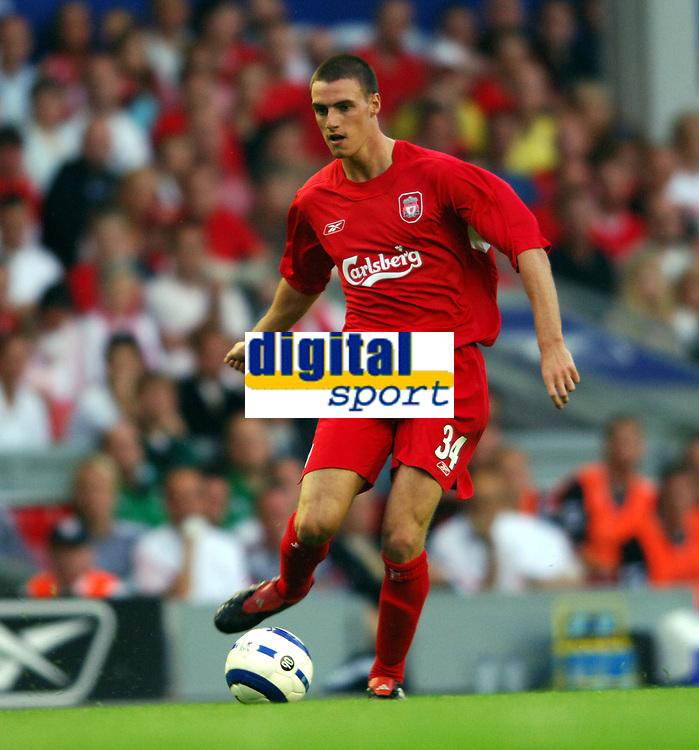 Darren Potter<br />Liverpool 2005/06<br />Liverpool V Total Network Soloutions (3-0) 13/07/05<br />UEFA Champions League Qualifier, 1st Round 1st Leg<br />Photo Robin Parker Fotosports International
