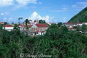 Windwardside town of Saba Island, Netherlands Antilles, <br /> ( Eastern Caribbean Sea )