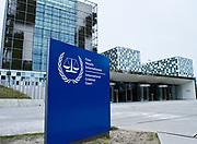 The Hague, South-Holland/Netherlands - 200228: The building of the International Criminal Court in The Hague