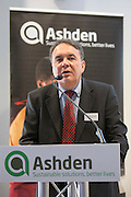 Masood ul Mulk, Sarhad of Rural Support Programme speaking at the 2015 Ashden International Conference. The Business of Energy: Enterprising Solutions to the Energy Access Challenge. Kings Cross, London, UK. All image use must be credited. © Andrew Aitchison / Ashden