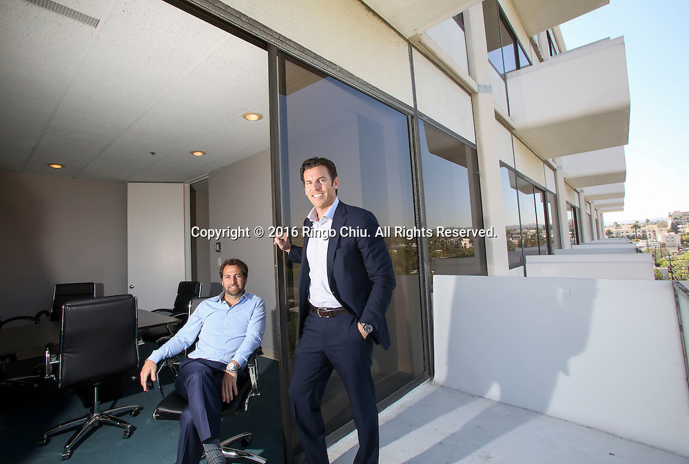Tyler Siegel, left,  and John Irwin from Townscape Partners in the building at 8899 Beverly Blvd. West Hollywood.  (Photo by Ringo Chiu/PHOTOFORMULA.com)<br /> <br /> Usage Notes: This content is intended for editorial use only. For other uses, additional clearances may be required.