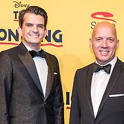 NLD/Scheveningen/20161030 - Premiere musical The Lion King, Maurice Wijnen en partner Ronald den Ouden