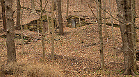 Abandoned wood and stone building (ice house?) along Hollow road in Skillman, New Jersey. Image taken with a Nikon D200 camera and 17-55 mm f/2.8 lens.